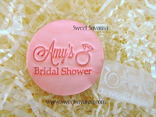 custom fondant stamp amys bridal shower