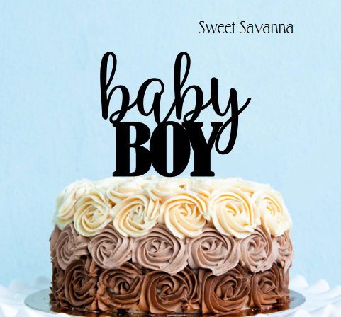 Baby Boy Cake Topper No3   Baby Shower Cake Topper