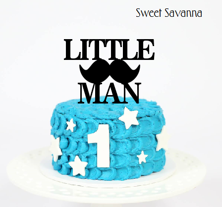 Little Man Cake Topper N2 6in wide Sweet Savanna Cookie Cutters