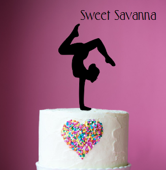Gymnast Cake Topper N2