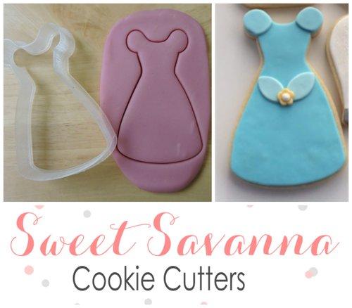 Princess Dress Cookie Cutter - Girls Dress Cookie Cutter - Wedding ...