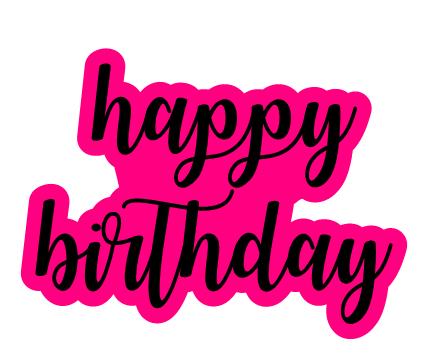 Happy Birthday Cookie Cutter Sweet Savanna Cutters
