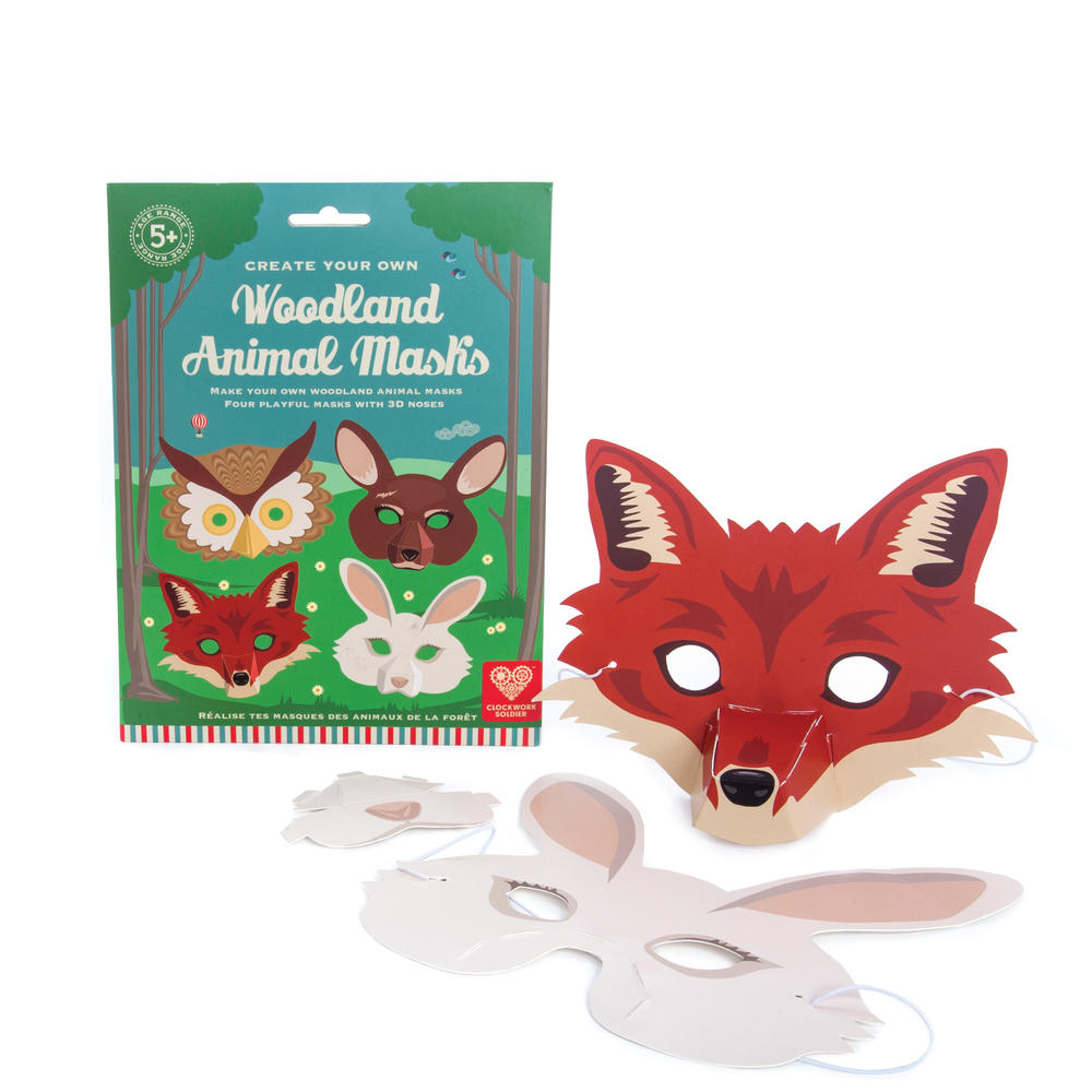 Woodland Animal 3D Masks by Clockwork Soldier