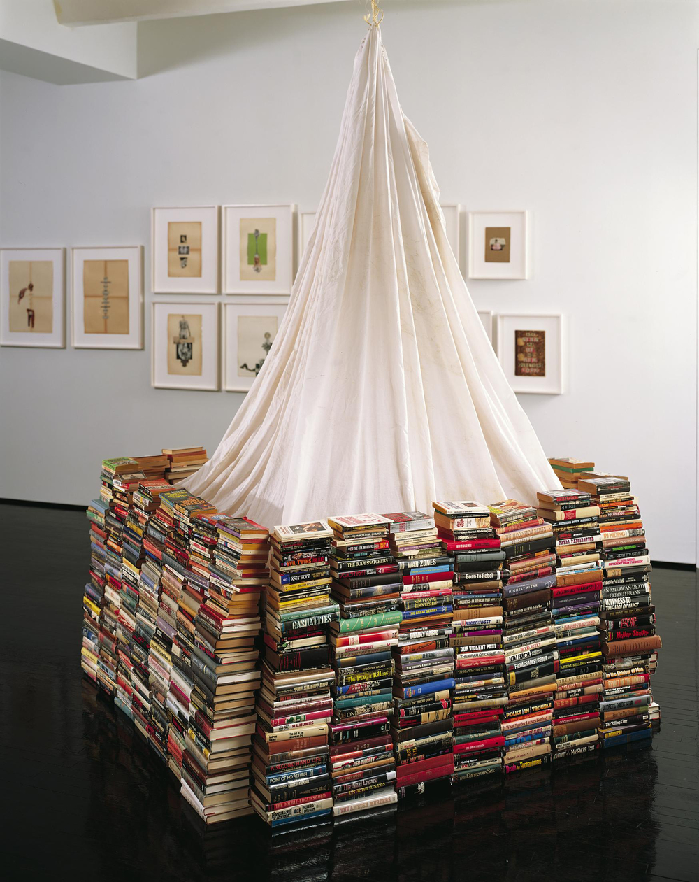 Book Fort, 2006-07, Mixed Media, 141.7 x 74.8 x 80.7 inches.  Courtesy of the Dash Snow Archive, New York City.