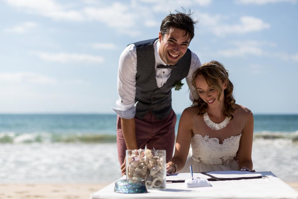 Tessa and Adam's beach wedding