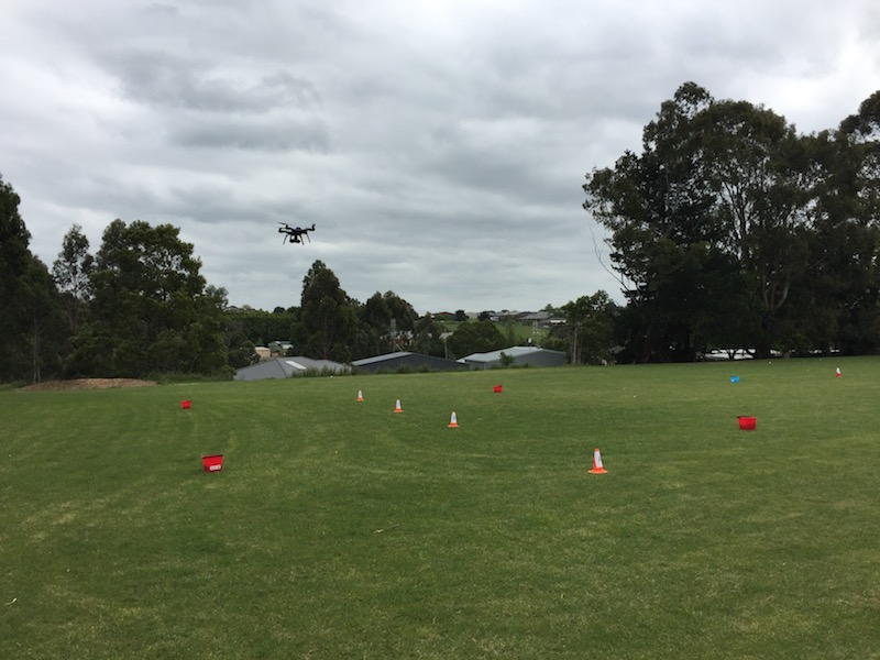 The set up of the flying field, ready for teams to solve the challenge