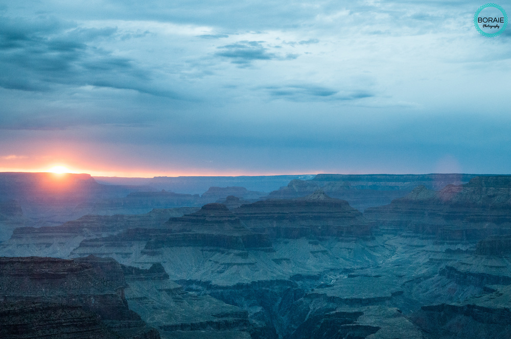 Sunset  the Grand Canyon