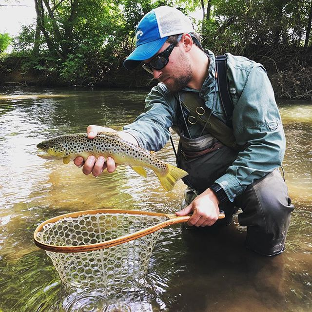 Good to get out and explore some new water with the 🐐 @doc_beachy #amishtrout #lectu #flyfishindiana #dentistry