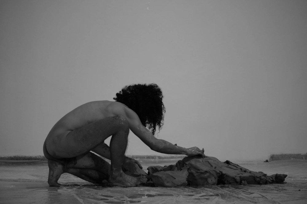 Artist Adonis Adoniou, Transmission Opening Night.jpg
