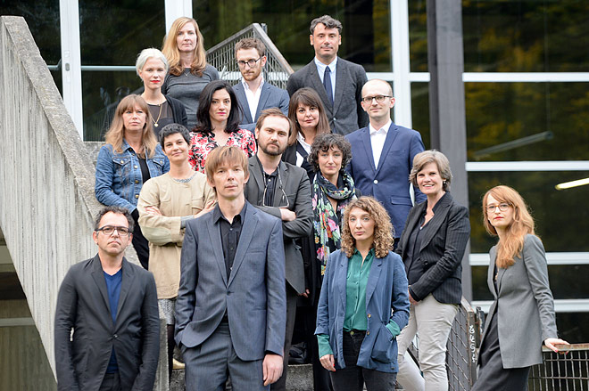 Artistic Director Adam Szymczyk with first team members of documenta 14. Photo ©Nils Klinger, courtesy of Documenta.