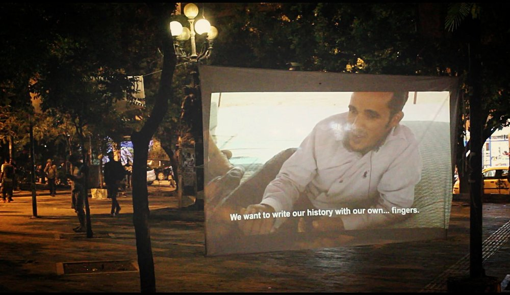 Screening of WESTERN : SAHARA in Exarchia Square