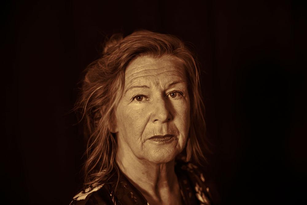 "Eva Snis i rollen som ""Judith""."