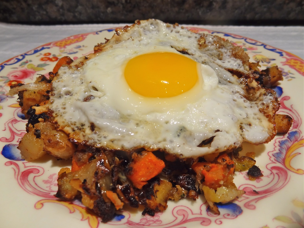 Vegetable Hash with Sunnyside Eggs Happy New Year! #FoodNetworkFaves