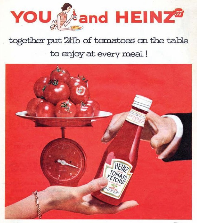 "fuckyeahcondiments: Originally, ketchup was tomato free. Ketchup apparently began in China, as a sauce called ke-tsiap, made from fish brine mixed with herbs. (pic via flickr) Yes indeed and then all of a sudden someone used mushrooms instead of fish and the first vegetable ketchups were born. Along came cucumber ketchup, grape, walnut and lots of others. I've made tomato ketchup (and other kinds of ketchup too). The tomato ketchup was really tasty, thick and tangy so I thought I would try it out on my father-in-law, who was a ketchup devotee. He said ""this ketchup is delicious but it isn't Heinz."" I said I knew that, but did he like it? And he said again ""it's delicious. It isn't Heinz."" To this day I don't know whether he was just comparing the two or whether he liked Heinz — or mine — better. But in case you're at a Farmer's market and can buy a load of tomatoes, (maybe this will have to wait till the end of summer), and you want ketchup that's tasty, thick and tangy, try my recipe: Ketchup 8 pounds tomatoes, quartered 4 medium onions, finely chopped 2 cups white vinegar 1/2 cup brown sugar 1/2 cup white sugar 2 teaspoons celery salt 1/2 teaspoon ground ginger 1/2 teaspoon ground nutmeg 1/2 teaspoon ground allspice 1 cinnamonstick 1 tablespoon ustard seed 2 dried hot chili peppers, optional 1 teaspoon black peppercorns 1 teaspoon whole cloves Place the tomatoes and onions in a large, deep pot and bring to a boil over high heat. (Do not add water.) Lower the heat and simmer the vegetables for about 30 minutes or until they are soft. Strain the vegetables through a sieve or strainer extracting as much liquid as possible, and reserve the juices. Wash the pot and pour in the reserved juices. Stir in the vinegar, brown sugar, white sugar, celery salt, ginger, nutmeg and allspice. Place the cinnamon stick, mustard seed, hot peppers, black peppercorns and whole cloves in a small piece of cheesecloth (tie it closed with kitchen string) or in a small muslin cooking bag. Place the bag of spices in the pot. Bring the mixture to a boil over high heat. Lower the heat to a simmer and cook the mixture for about 2 hours, stirring occasionally, or until the mixture is thick. Discard the spice bag. Pour into jars prepared for bottling (follow manufacturer's instructions) or spoon into plastic containers and keep, covered, in the refrigerator. Makes about 1-1/2 quarts"