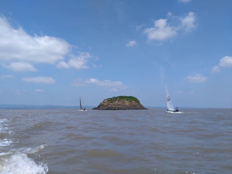Robin and Martin rounding Deny Island