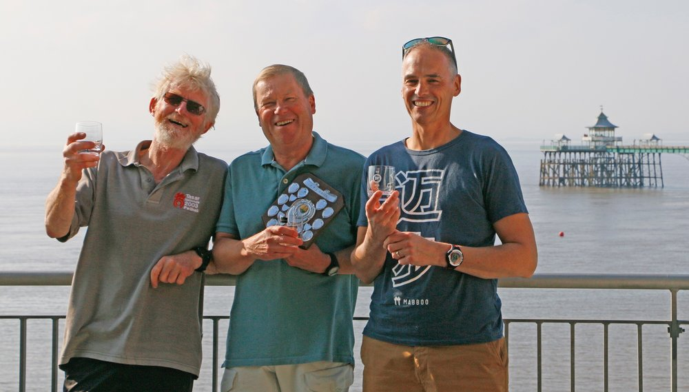 Winners from left to right: Martin Gibson, Robin Goff and Chris Cooper