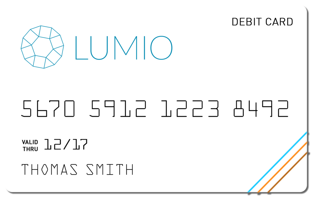 Lumio bank card design