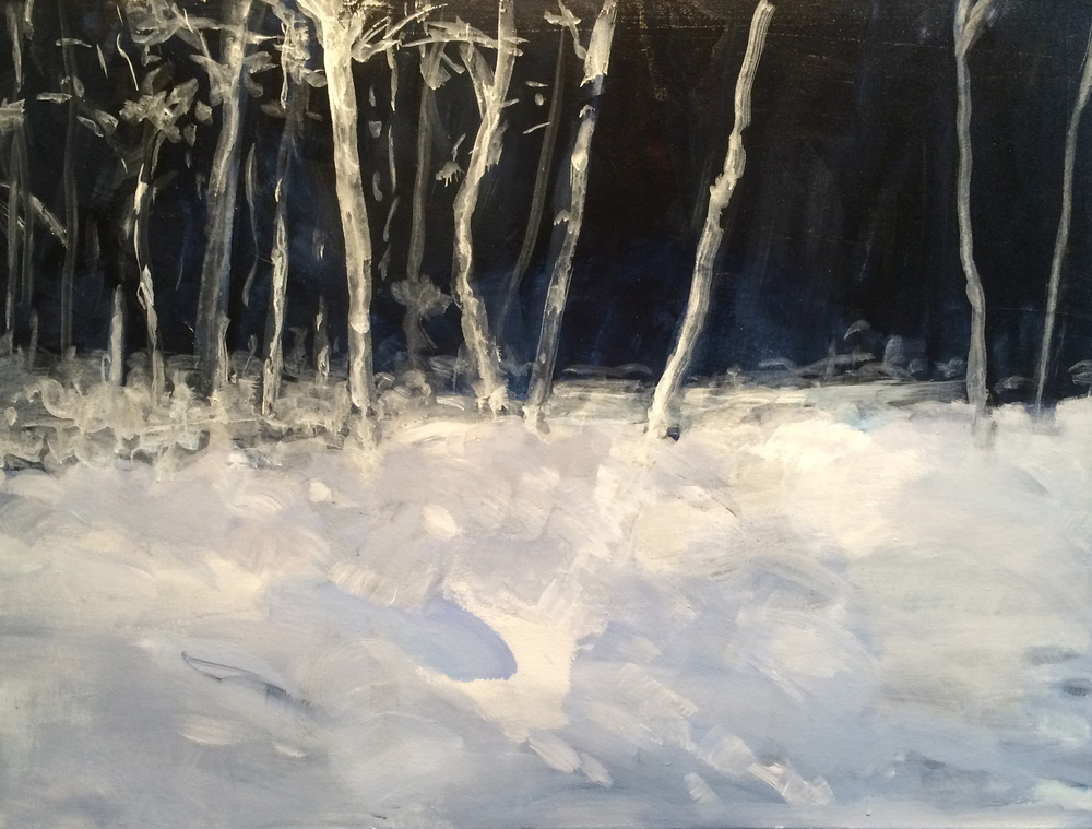 "White Birch (Winter) 1 30x40"" 2014"