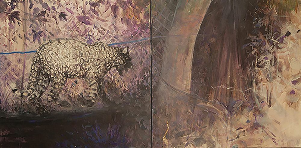 "JUNGLE DREAMING (LEOPARD) DYPTCH 30X60"" 2014"