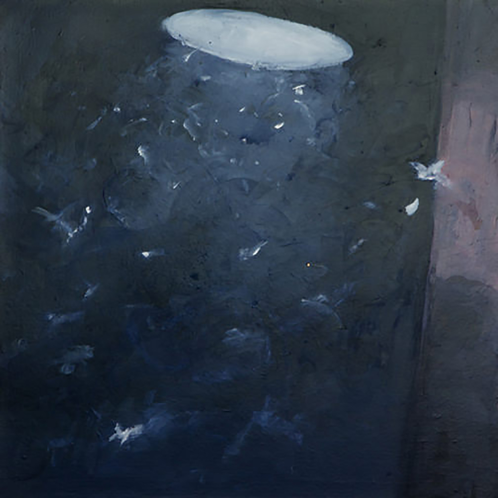 "MOTHS IN LIGHT 4 (24X24"") 2010"
