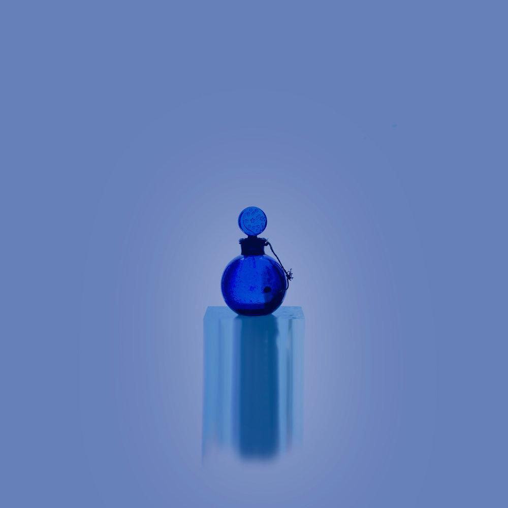 Small Bottles Blue 1, 2017