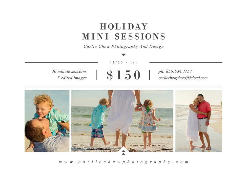 Holiday Mini Sessions With Carlie Chew Photography in St. Petersburg, Florida