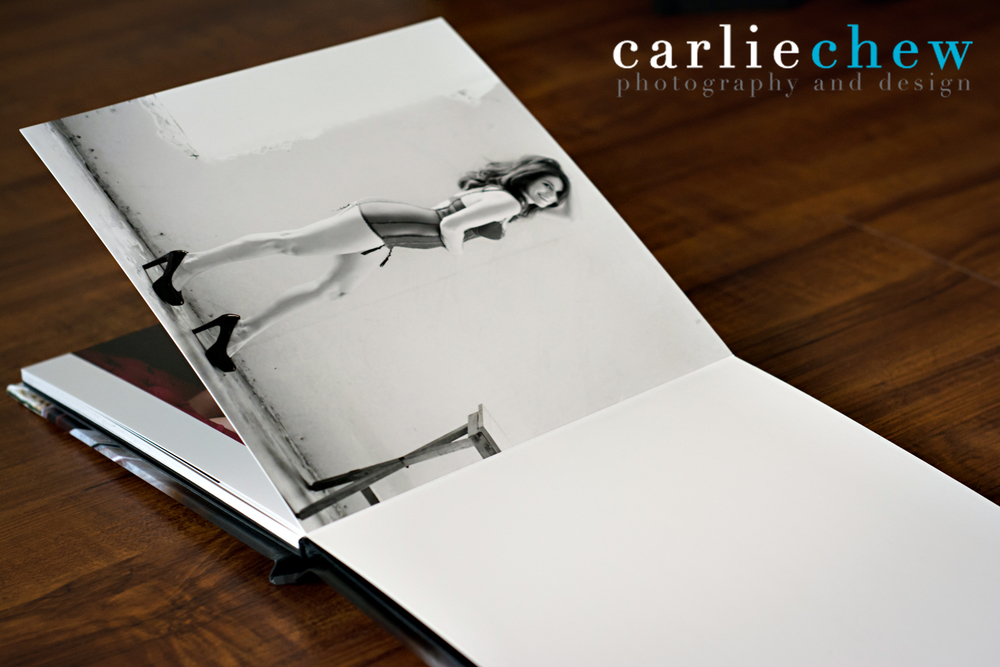 Boudoir book designed by Carlie Chew Photography in Tampa Florida, printed by Finao