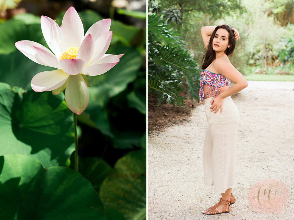 Portrait photography at The Florida Botanical Gardens in Largo with Carlie Chew Photography