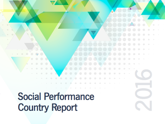 Example    of SPI4 data aggregated for the Social Performance report by the national network of Pakistan,    PMN