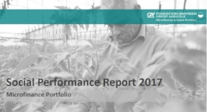 Example        of SPI4 benchmarks for the    GCAMF    Social Performance Report to their Board (2017)