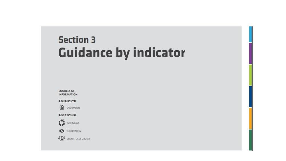 Sección 3: guía por indicador