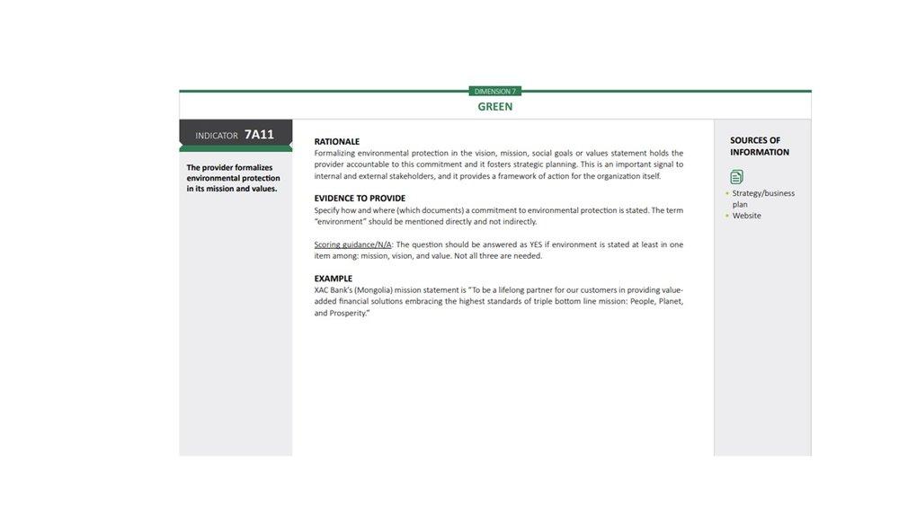 Dimensión 7: green index