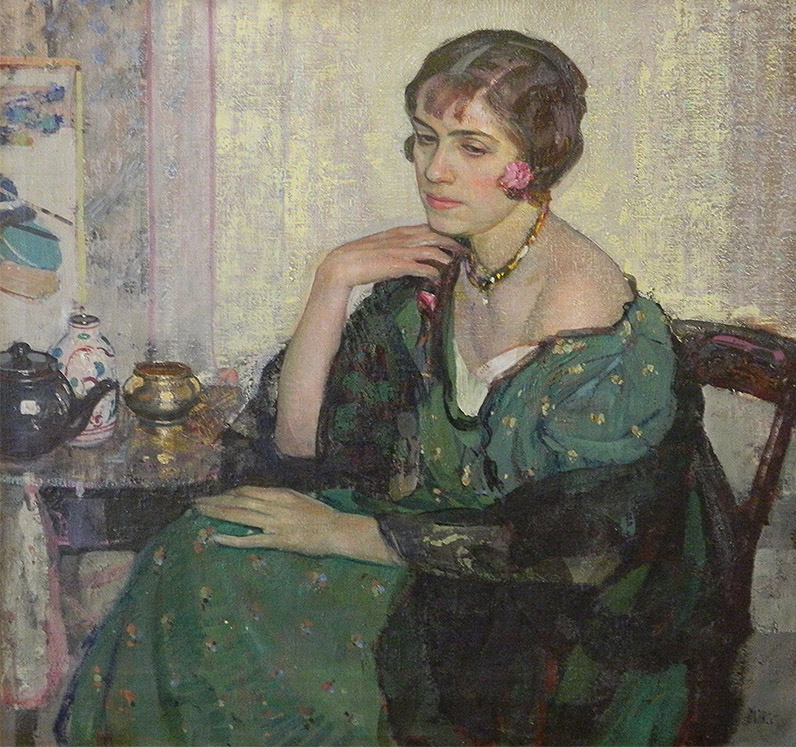 Woman in a Green Dress (Afternoon Thoughts)