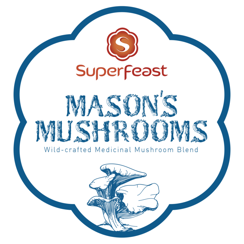 Mason's Mushrooms Powdered Extract Blend   +  POTENT FULL-SPECTRUM MEDICINAL MUSHROOM BENEFITS