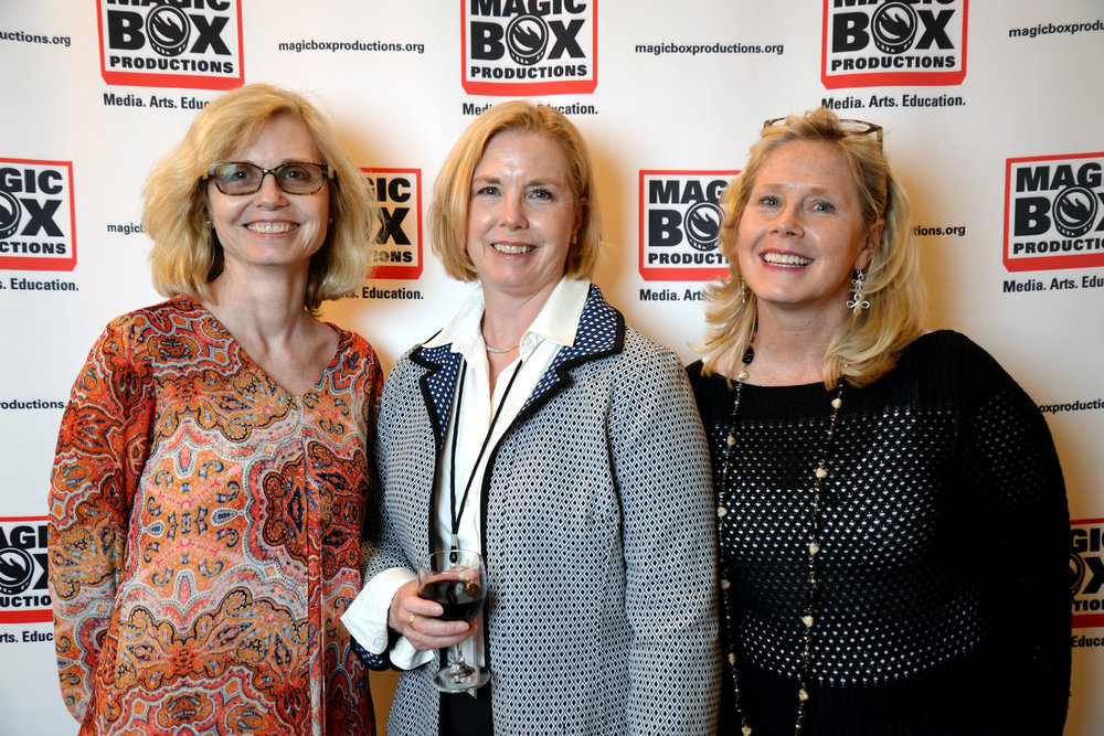 Magic Box Board member Brette Westerlund [center] with her sisters Dale Kolanko and Kyle Eifert