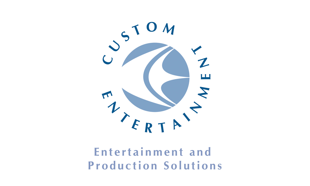This logo uses the 'C' and 'E' of the company's name in an abstracted form to create a fluid almost dancing formation which also hints at the nature of the business - entertainment.