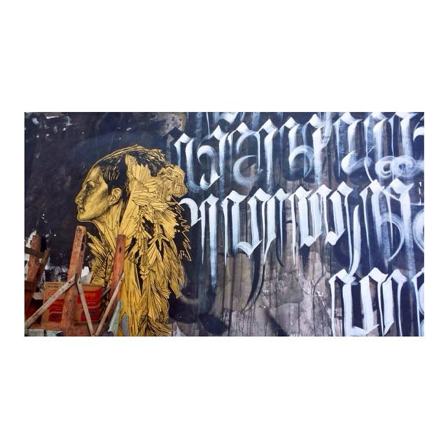 Sweet streetart found wandering the streets of Yogyakarta, Java.