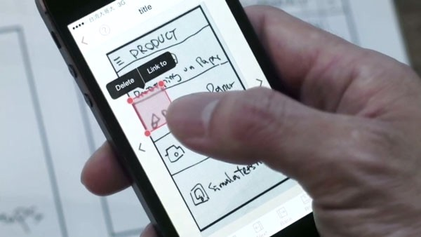 Use of the POP application, a prototyping tool which instantly adds functionality to drawings.