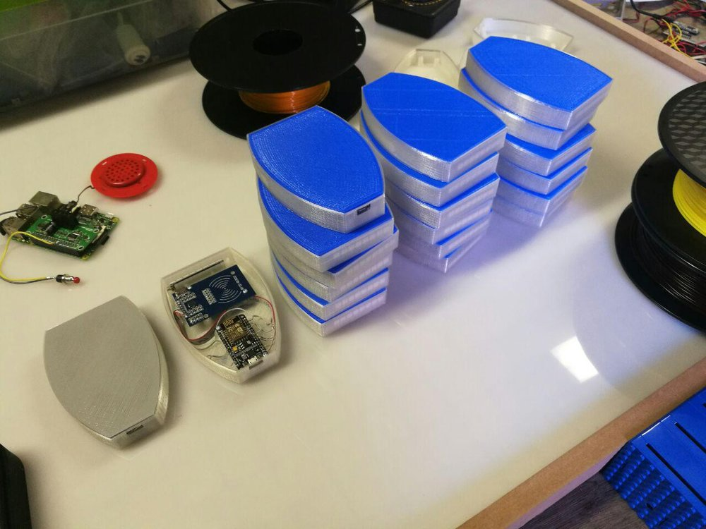A stack of NFC Readers being tested