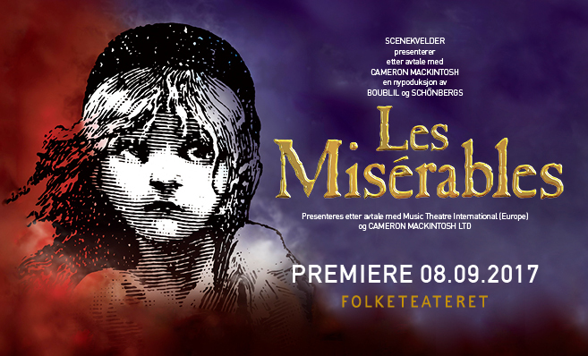 Les Misérables har premiere 8. september 2016