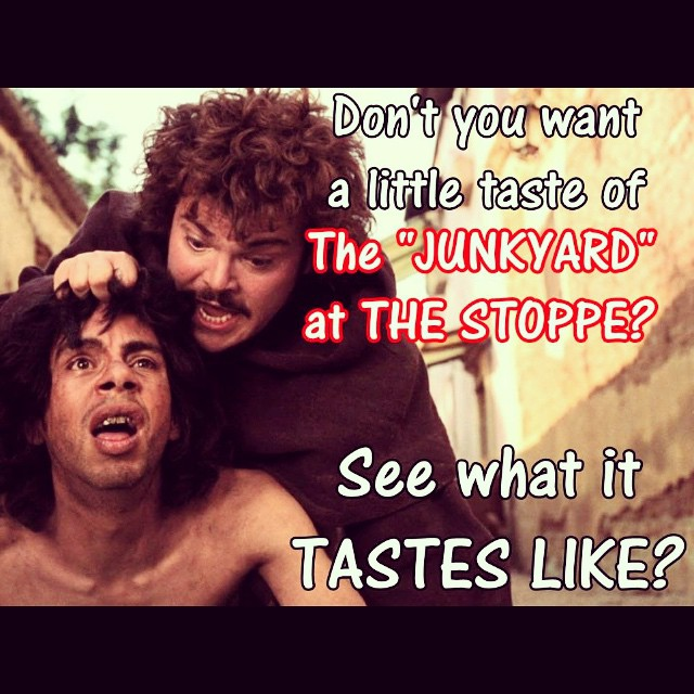 Well...DO you? Come taste the GLORY of The JUNKYARD Sandwich ONLY at The Stoppe! #huge #hugh #jass #sandwich #bringyourappetiteorbringafriend