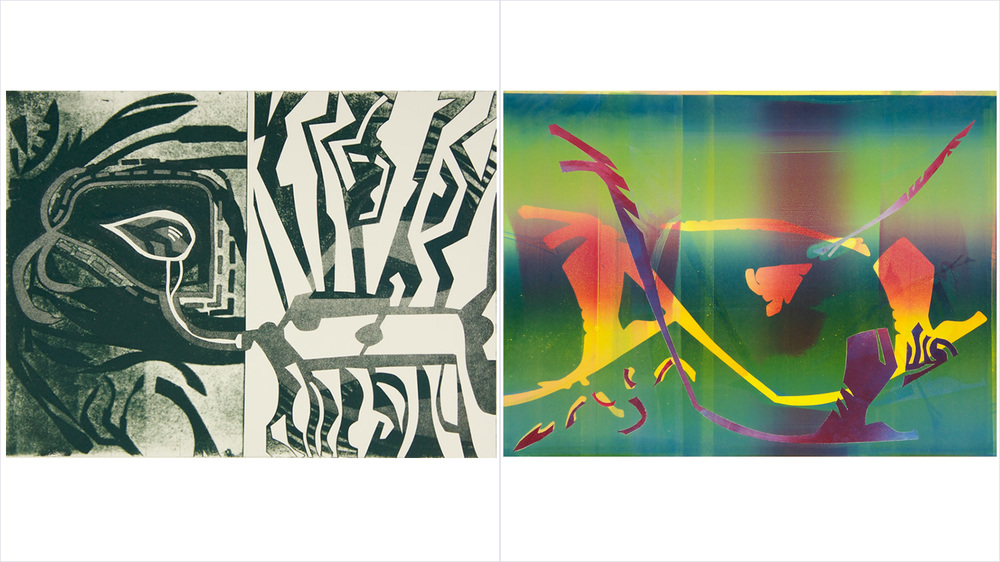 "[Left] - ""AXAN"" - Aquatint - 2014   [Right] - ""NORLIGHT"" - Monotype - 2014"