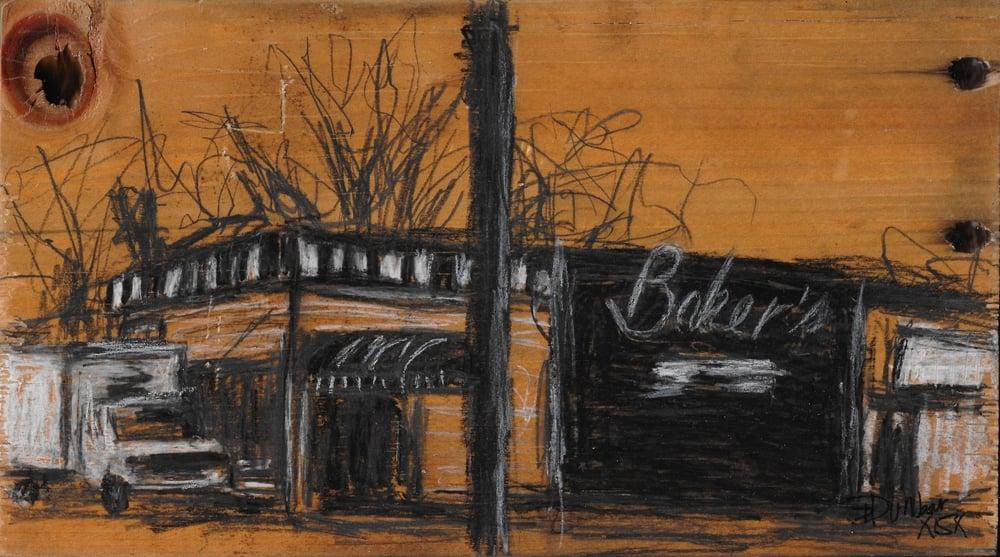 "Baker's Jazz Lounge -SOLD - 5 1/2"" x 9 1/2"""