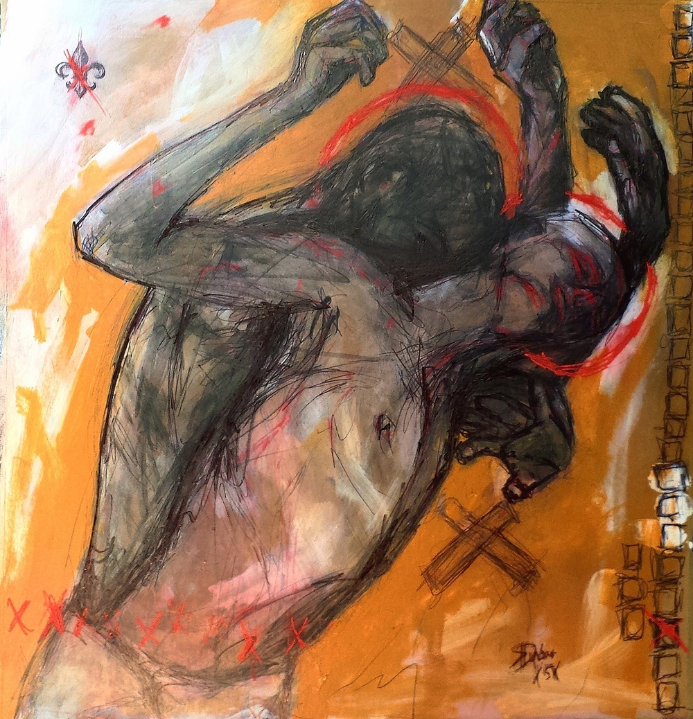 """The B Sides"" - Acrylic - 24""x24"" - (c) Danny K Dunbar 2015"