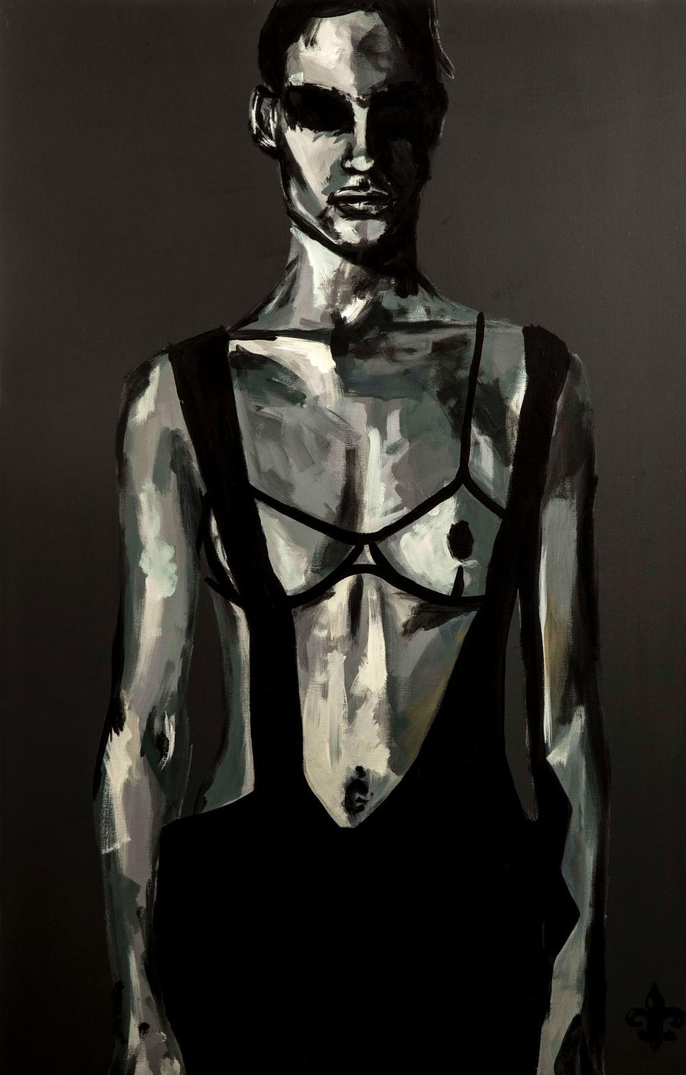 """Mirrors"" - Acrylic - (c) Danny K Dunbar 2014"