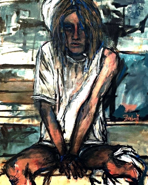 """Desiderium"" - Acrylic - (c)Danny K Dunbar 2016"