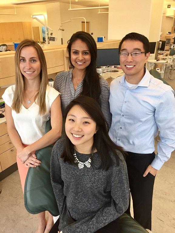 Clockwise from left: Amelia Stoker (OHSU), Riddhi Desai (UPenn), Jonathan Yih (OHSU), and Ji Sun Min (UPenn).