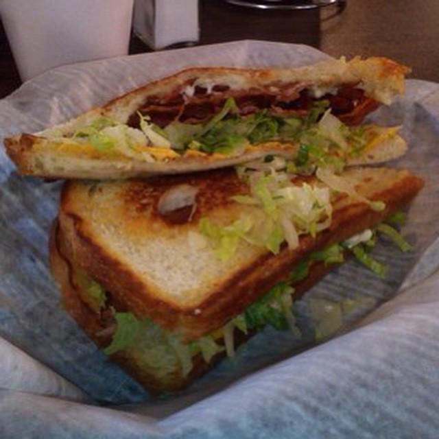 BLT sandwich #blt #toasters #toasterscafe #toastershouston #downtownhouston #houston #houstoneats #bacon