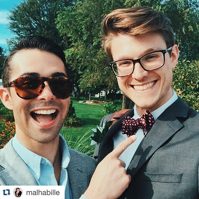 Be yourself in every way possible. The world needs more of you!  Thank again @malhabille for representing beauhawk. #menstyle #menswear #mensfashion #mensfashionpost #mensfashionblog #esquire #gq #madeinmichigan #instagay #beauhawk #beauhawkshop #bowtie