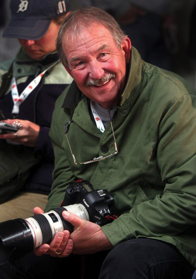 Ed Reinke, an award-winning Associated Press photographer and mentor to countless photojournalists over the years, died in 2011 following an injury he suffered while covering the IndyCar race at Kentucky Speedway in Sparta, KY  (Photo by Mark Cornelison)